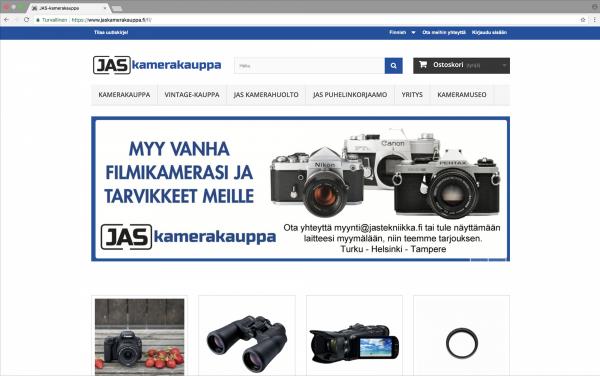JAS-kamerakauppa - yritysilme ja verkkokauppa